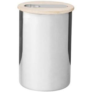 Stelton Scoop - Bol de café avec cuillère - inox/brillant/Ø 12cm x H: 17,5cm