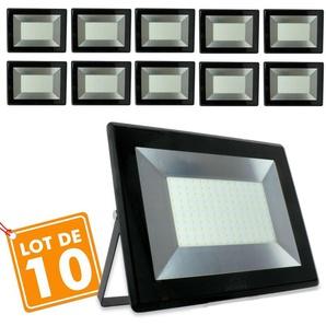 Lot de 10 Projecteurs 100w Forte luminosité 8500 Lumens de IP65 | Température de Couleur: Blanc neutre 4000K - ECLAIRAGE DESIGN