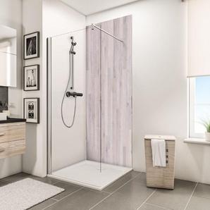 Panneau mural 100 x 210 cm, revêtement pour douche et salle de bains, DécoDesign DÉCOR, Schulte, Chêne blanchi