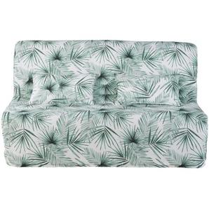 Housse BZ écrue imprimé palmier vert Elliot