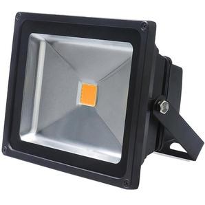 Auralum Projecteur LED 50W IP65 Spot LED 4200-5000LM Éclairage Extérieur et Intérieur Blanc Chaud 3000-3500K Coque Noir