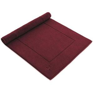 Möve Tapis de Bain Superwuschel Rouge 60x130 cm - Tapis pour salle de bain