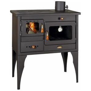 Poêle à bois en fonte, avec four et plaque de cuisson. Brûleur à bûches de 10 KW - PRITY