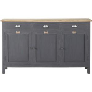Buffet en bois gris L 138 cm Chablis