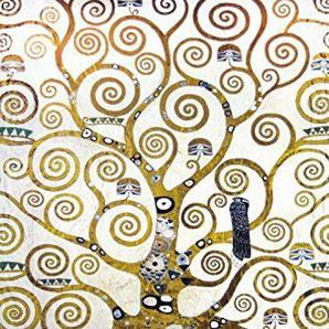 Gustav Klimt Poster Papier Peint Autocollant - larbre De Vie (Détail), 2 Parties (250 x 180 cm)
