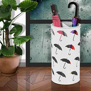 YYHSND Support De Parapluie De Sol Européen Bureau En Fer Forgé Simple Seau De Stockage Multifonctionnel Rack De Stockage Seau Porte-parapluie (Couleur : Blanc)