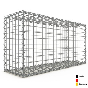 Gabion 100x50x30cm « made in Germany » - mailles carrées 5x5cm - GABIONDECO