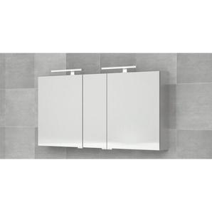 Bruynzeel armoire miroir 150x70cm avec 3 portes sans lumière aluminium 232409