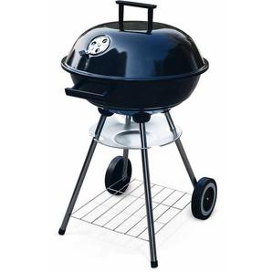 Barbecue charbon de bois Fernand ⌀41cm noir, fumoir boule, récupérateur de cendre, roulettes - ALICES GARDEN