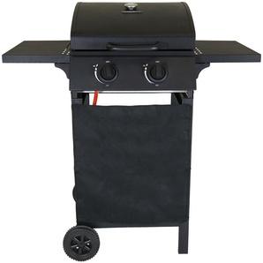Barbecue à gaz avec 2 brûleurs - acier - noir mat - CHARLES BENTLEY