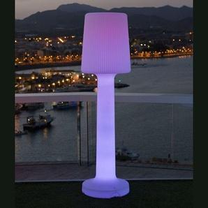 CARMEN-Lampadaire dextérieur RGB rechargeable H165cm Blanc New Garden