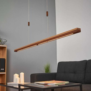 Suspension LED Elna en rouille et bois, 158 cm