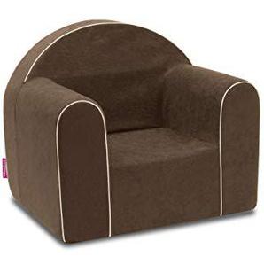 Mini Fauteuil enfant enfants Baby Fauteuil Fauteuil canapé chaise Chaise pour enfant mousse écologique (Marron)