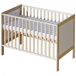 Lit bébé à barreaux Mélodie - Bouleau