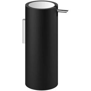 Decor Walther Stone WSP - Distributeur de savon - noir, chrome/H 17cm / Ø 7cm / 200ml/montage mural/avec pompe en métal