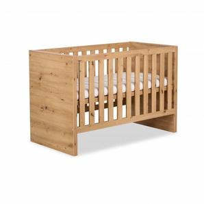 Lit bébé évolutif en bois - Chêne