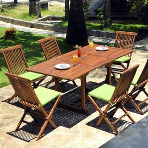 salon de jardin en teck huilé 6 places Lombok Kuta