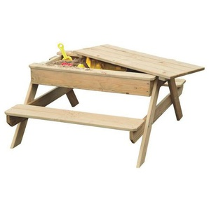 Outdoor Toys - Table de pique-nique pour enfants bac à sable 90x90x50cm Outdoor Toys