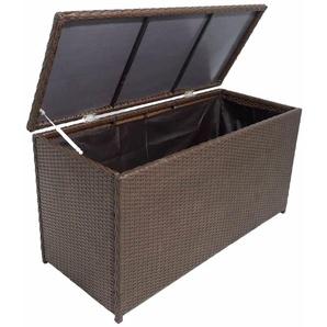 Boîte de rangement de jardin Marron 120x50x60 cm Résine tressée - VIDAXL