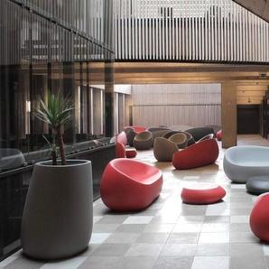 Vondom Canapé Stone Lounge  - verni - rouge