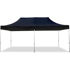 Tente pliante 3x6 m sans bâches de côté noir PROFESSIONAL tente pliable ALU pavillon barnum - INTENT24.FR