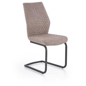 Chaise métal et éco-cuir beige Vegas