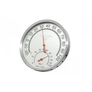 Thermomètre hygromètre pour hammam sauna en aluminium couleur inox - RENTO