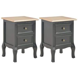 Table de nuit chevet commode armoire meuble chambre 2 pcs noir 35x30x49 cm mdf - Noir - HELLOSHOP26