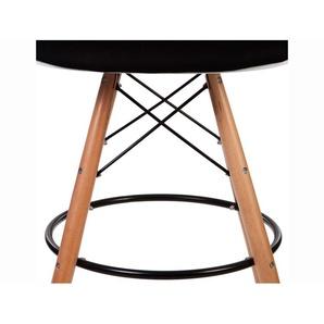 Chaise de bar DAB rembourrée - Noir