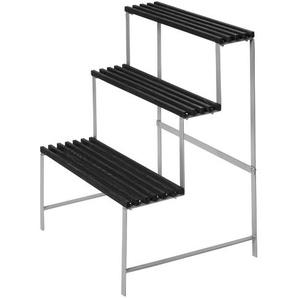DesignHouseStockholm - Porte-plantes - frêne gris foncé/laqué/structure métal/65x78x53cm