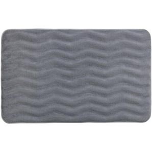 Tapis de salle de bain Wave - Mémoire de forme - Gris clair - WENKO
