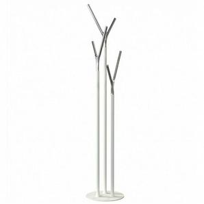 FROST Quadra - Portemanteau - blanc/poli/H 175cm/Ø 35cm/structure blanc