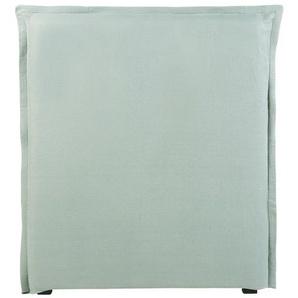Housse de tête de lit 90 en lin lavé vert jade
