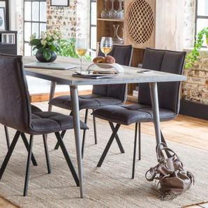 Chaise contemporaine pieds compas métal noir