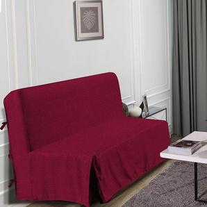 HOMETREND Housse de BZ Graphite - 140 x 200 cm - Bordeaux