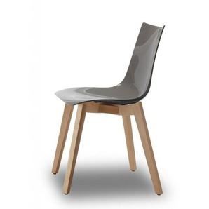 Chaise design avec pieds bois naturel - NATURAL ZEBRA Antishock - Vendu à lunité - déco originale