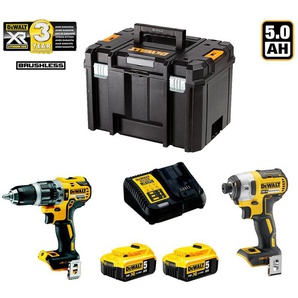 DeWALT Kit XP255P2T (DCD796 + DCF887 + 2 x 5,0 Ah + DCB115 + TSTAK VI)