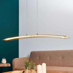 Suspension LED longitudinale Lolina doré