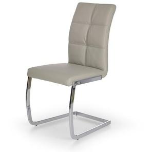 Chaise grise luge pied métal Florane