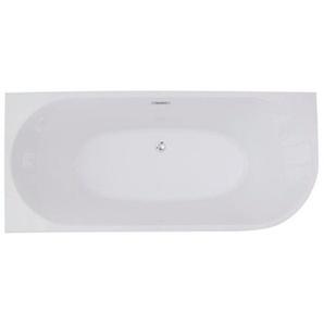 Saniclass D Shape Baignoire semi-îlot 180x80x60cm gauche blanc 119863