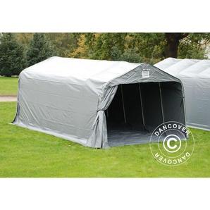 Tente Abri Voiture Garage PRO 3,6x6x2,68m PVC, avec couverture de sol, Gris - DANCOVER
