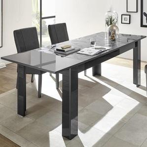 Table extensible 180 gris laqué design NINO 2