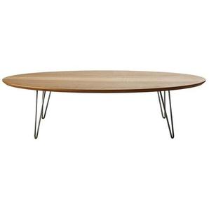 Table basse ovale pieds en métal gris Luciano