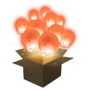 Lanterne Volante Balloon Corail x30 - Corail - SKYLANTERN® ORIGINAL