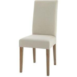Chaise en lin et chêne Léonie