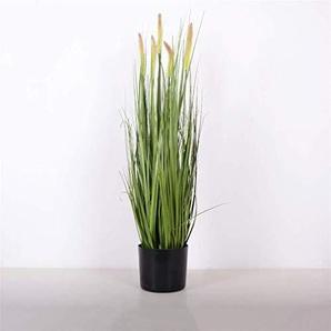 Exquis Non toxique Simulation daffichage Reed Fleurs faux et plantes, Grand pot artificielle arbres verts 121 (Size : A)