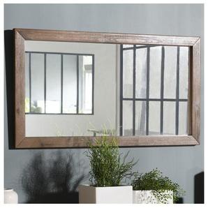 Miroir avec bords en acacia 100x55cm River