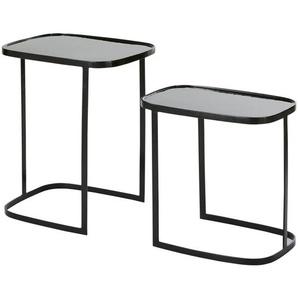 Bouts de canapé en métal noir (x2)