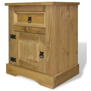 Table de nuit chevet commode armoire meuble chambre meuble de chevet pin mexicain gamme corona 53 x 39 x 67 cm - Jaune - HELLOSHOP26