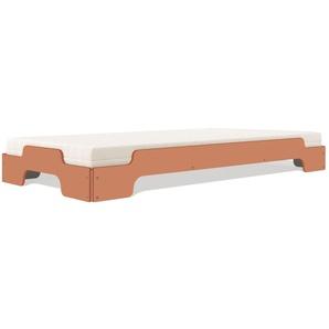 Modèle d'exposition Müller Möbelwerkstätten - Couchette empilable Confort - 100 x 200 cm - brun apricot - Modèle d'exposition